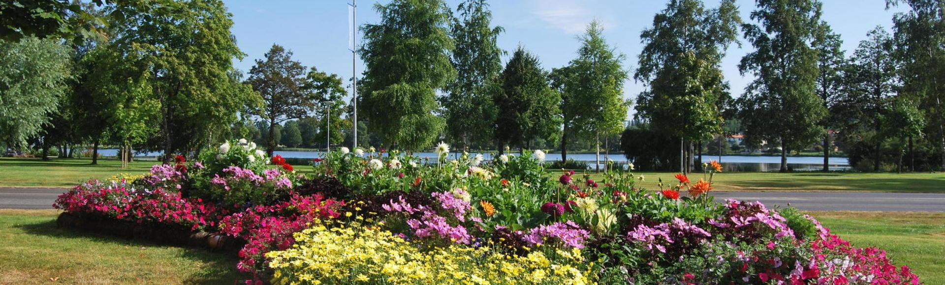 Blommor bredvid Stadsparken